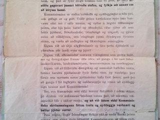 """Íslenskir nasistar: """"Varist kommúnista og vinnið gegn þeim hvar sem er, það er skylda allra sannra Íslendinga!"""""""