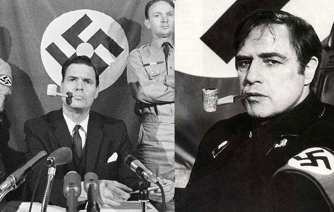 Marlon Brando leikur George Lincoln Rockwell, bandaríska nasistann sem fór til Íslands