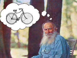 Tolstoj hjólaði allan daginn og var sama hvað öllum fannst