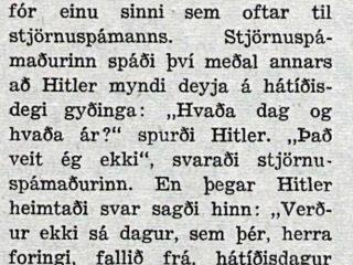 Hitlersbrandarar í Heimilisritinu 1944 endurspegla skringilegt spaug í Þriðja ríkinu