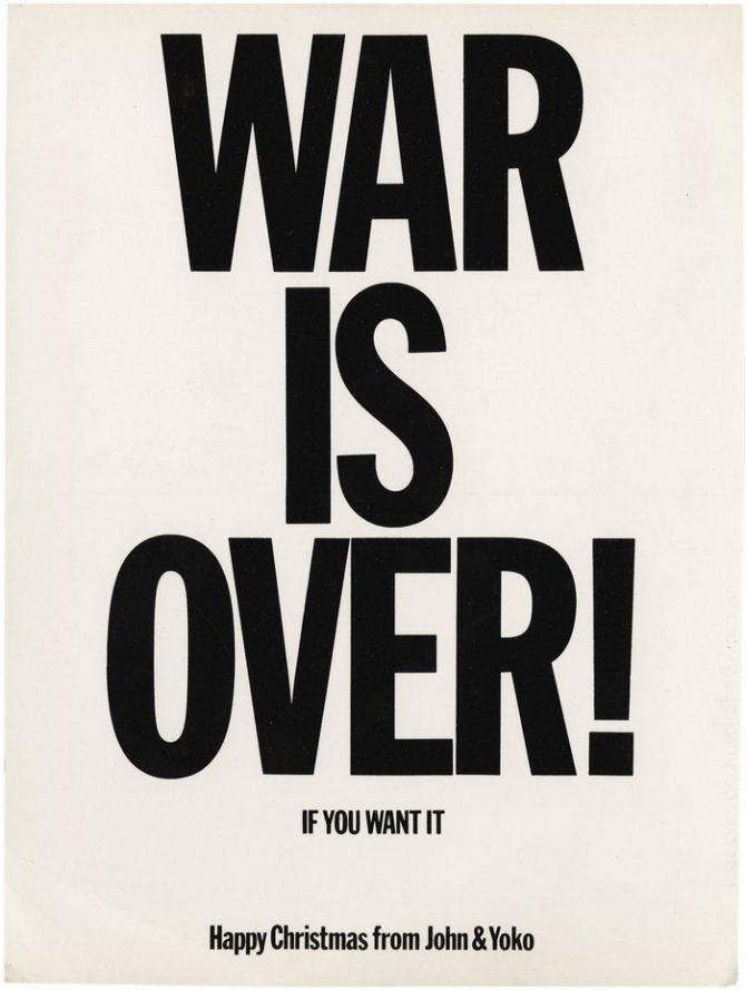50 ár frá WAR IS OVER!