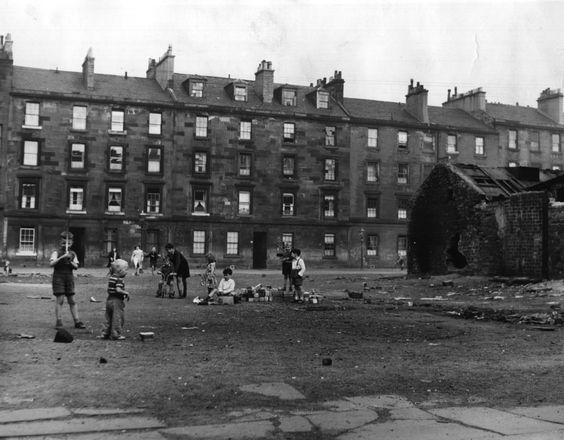 Gorbals-hverfið í Glasgow var alræmt fyrir félagsleg vandamál.