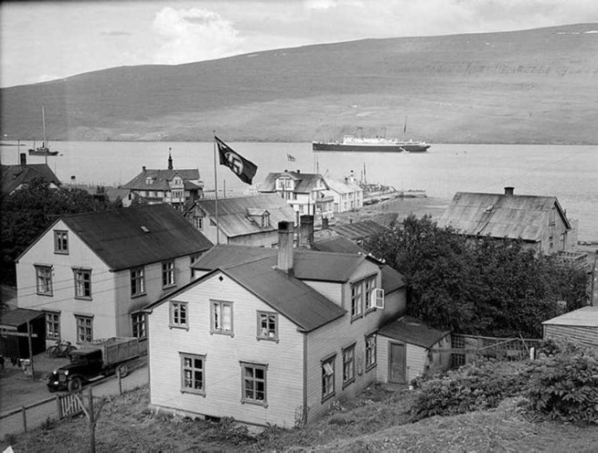 Nasistafáni á Akureyri, um 1938