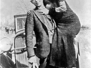 Bonnie og Clyde skotin til bana 1934