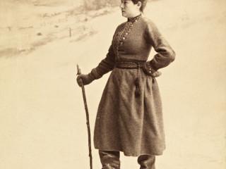 Skíðaaktivistinn Eva Nansen