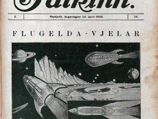 """""""Flugeldaknúin flugvjel lendir á tunglinu"""""""