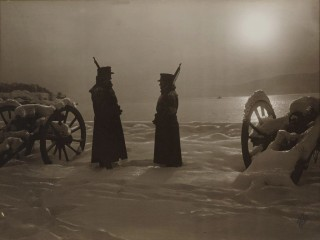 Vaktaskipti í Drøbak í Noregi árið 1915