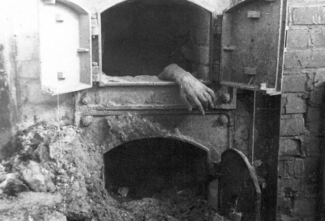 Útrýmingarbúðirnar í Stutthof árið 1945