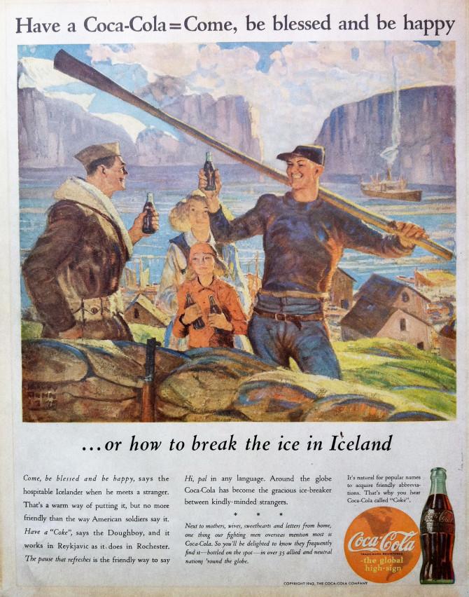 "Coca-Cola á Íslandi: ""Come, be blessed and be happy"""