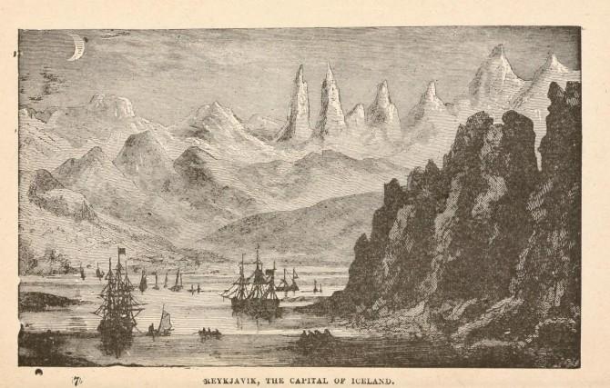 Hryllingsbælið Ísland: Myndskreytingar í bók Jules Verne