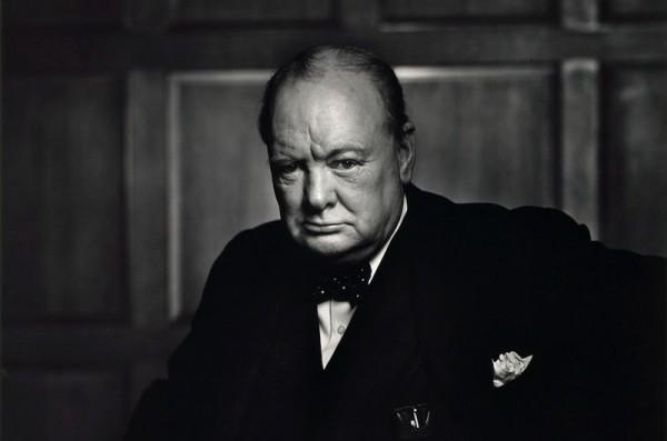 Reif vindilinn af Churchill og tók fræga mynd