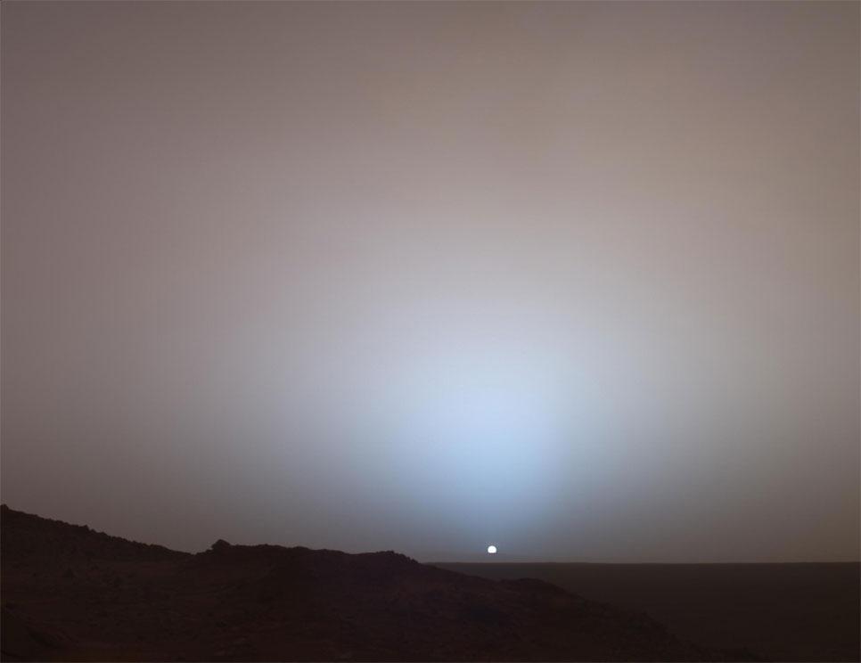 Sólsetur á Mars.