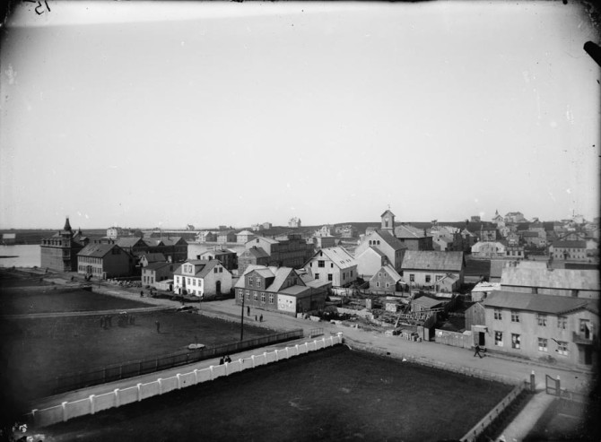 Lækjargata, ca. 1906