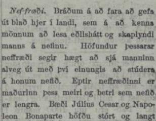 """""""Bogið, holdmikið nef sýnir drottnunargirni og grimmd"""""""