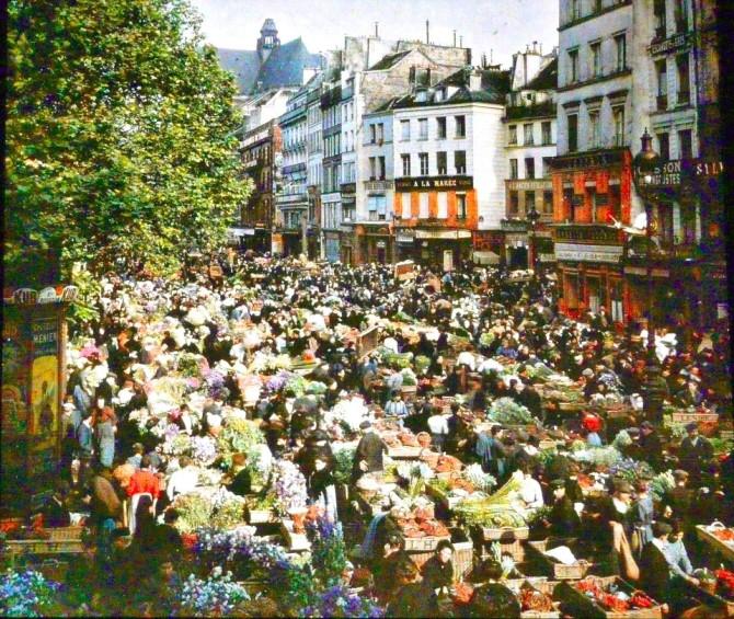 París í lit: Ótrúlegar ljósmyndir frá 1909 til 1930