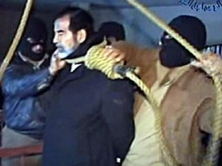 Saddam Hussein hengdur í Baghdad