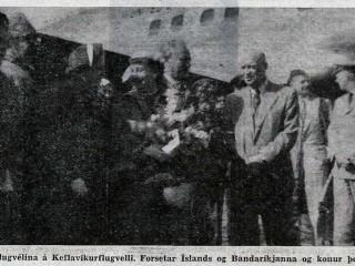 Dwight Eisenhower fyrstur Bandaríkjaforseta til þess að heimsækja Ísland